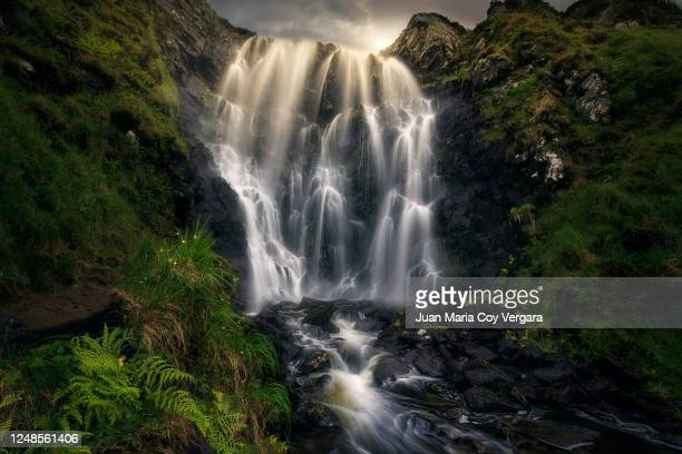 the magic clashnessie falls - lochinver (sutherland, scotland) - waterfall stock pictures, royalty-free photos & images
