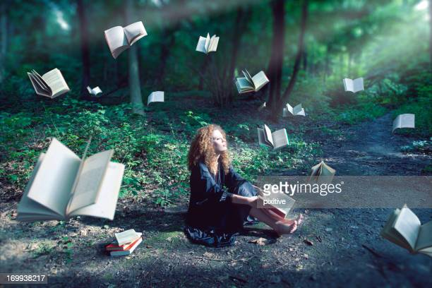 the magic forest - literature stock pictures, royalty-free photos & images
