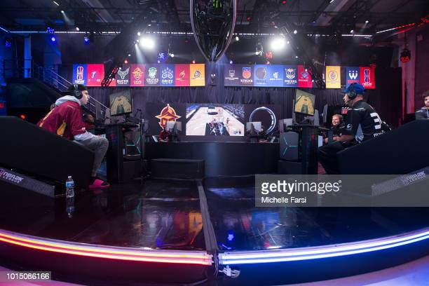 The Magic Gaming stares down the Cavs Legion Gaming Club during Week 12 of the NBA 2K League on August 11 2018 at the NBA 2K Studio in Long Island...