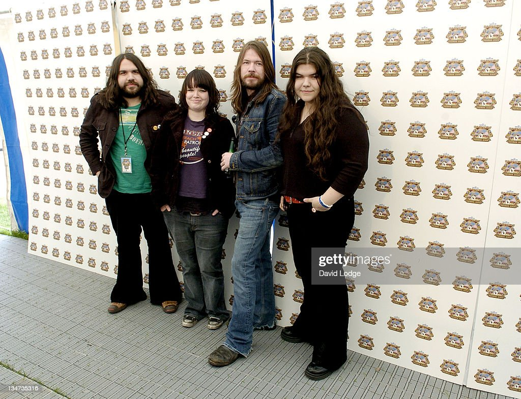 The Magic Numbers during 2005 Isle Of Wight Festival - Day 3 - Backstage at Seaclose Park in Newport, Great Britain.
