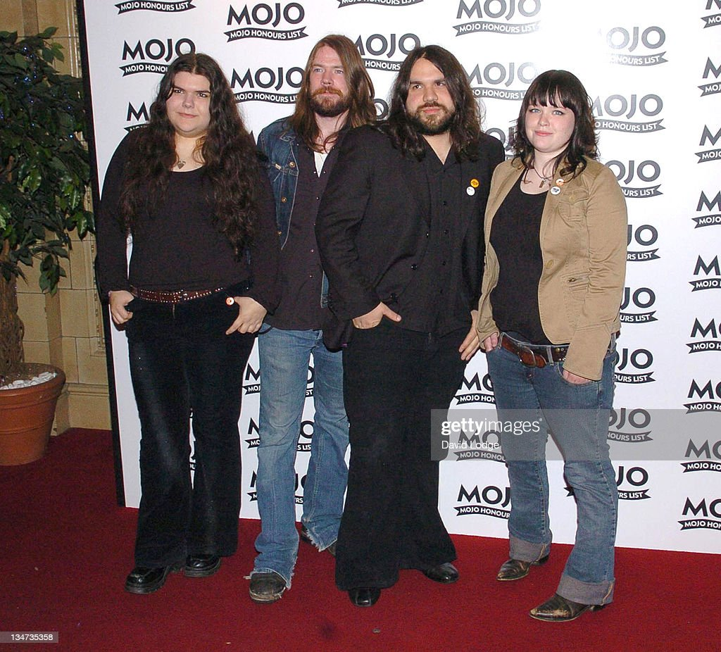 The Magic Numbers during 2005 Mojo Honours List Awards - Arrivals at Porchester Hall in London, Great Britain.