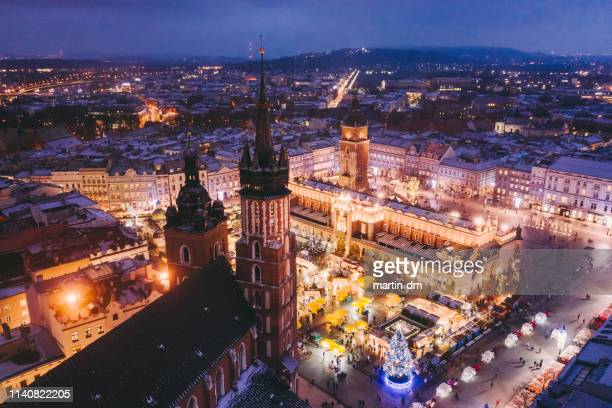 the magic of christmas - krakow stock pictures, royalty-free photos & images