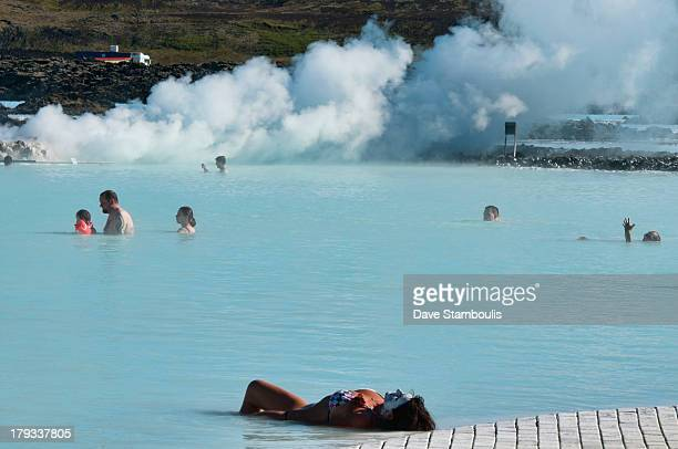 CONTENT] The magical Blue Lagoon hot spring in Reykjanes Iceland