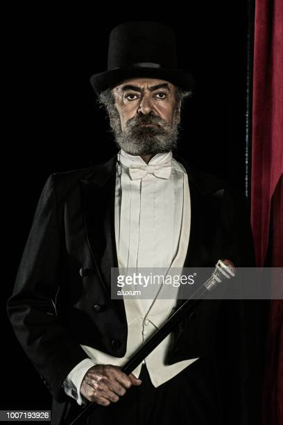 the magician - top hat stock pictures, royalty-free photos & images