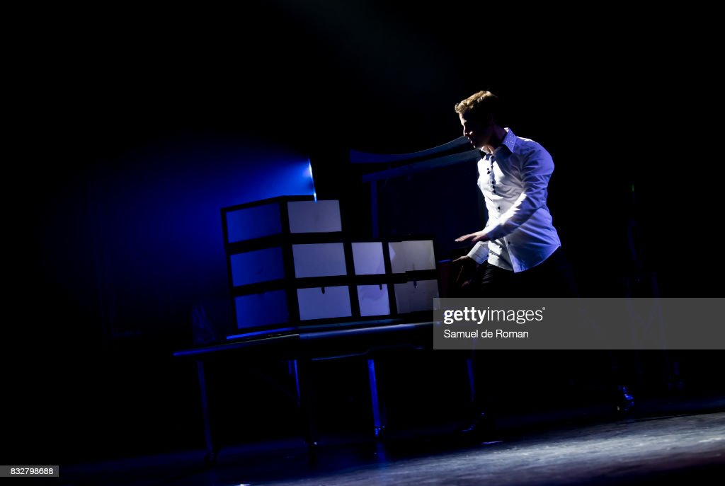 The magician Sun during his show 'Magic Spectacular' Theatre Play in Madrid on August 16, 2017 in Madrid, Spain.