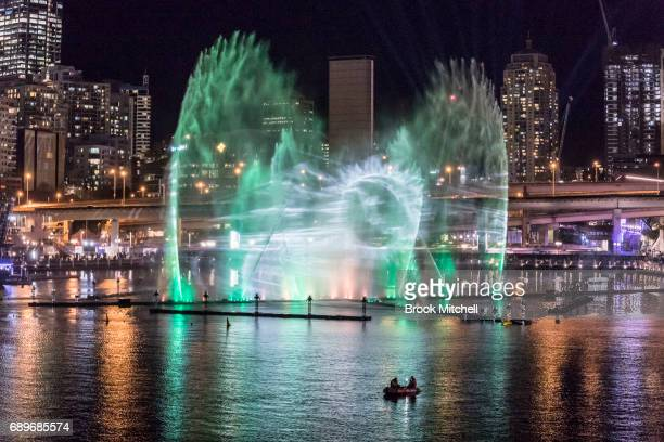 The Magicians of the Mist light show at Darling Harbour as part of Vivid Sydney on May 29 2017 in Sydney Australia Vivid Sydney is an annual festival...
