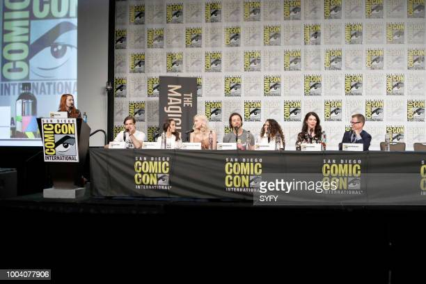 DIEGO 'The Magicians Panel' Pictured Felicia Day Jason Ralph Stella Maeve Olivia Taylor Dudley Hale Appleman Summer Bishil Sera Gamble John McNamara