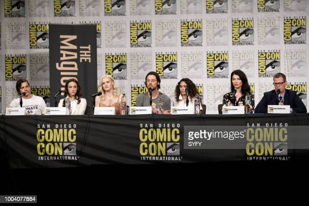 DIEGO 'The Magicians Panel' Pictured Jason Ralph Stella Maeve Olivia Taylor Dudley Hale Appleman Summer Bishil Sera Gamble John McNamara