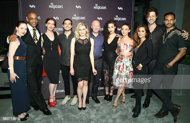 DIEGO 'The Magicians Party at Hotel Solamar' Pictured Brittany Curran Rick Worthy Executive Producer/Writer Sera Gamble Jason Ralph Olivia Taylor...
