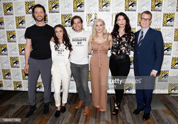 DIEGO 'The Magicians Press Room' Pictured Hale Appleman Stella Maeve Jason Ralph Olivia Taylor Dudley Sera Gamble John McNamar
