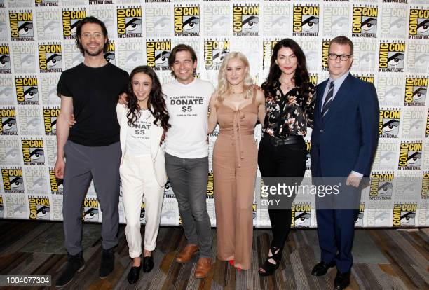 DIEGO 'The Magicians Press Room' Pictured Hale Appleman Stella Maeve Jason Ralph Olivia Taylor Dudley Sera Gamble John McNamara