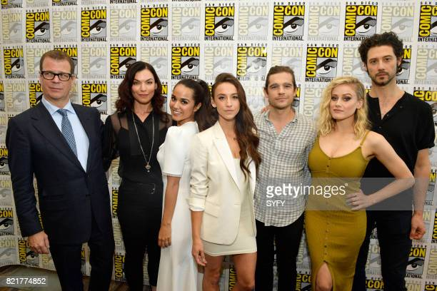 DIEGO 'The Magicians Press Room' Pictured John McNamara Sera Gamble Summer Bishil Stella Maeve Jason Ralph Olivia Taylor Dudley and Hale Appleman