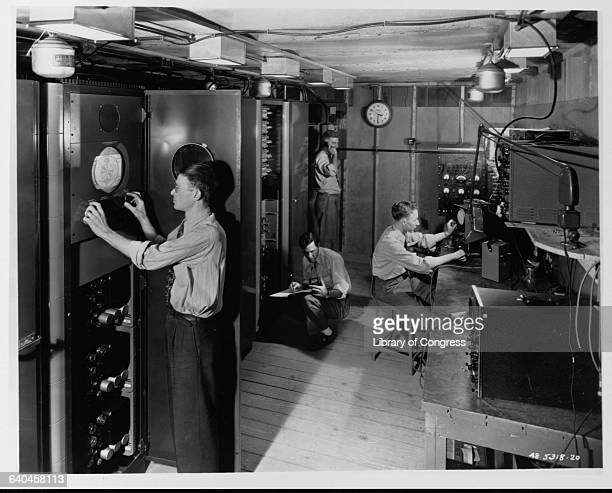 The Magnavox central television signal system control room in Fort Wayne Indian