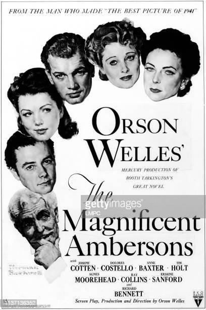The Magnificent Ambersons poster Richard Bennett Tim Holt Anne Baxter Joseph Cotten Dolores Costello Agnes Moorehead 1942