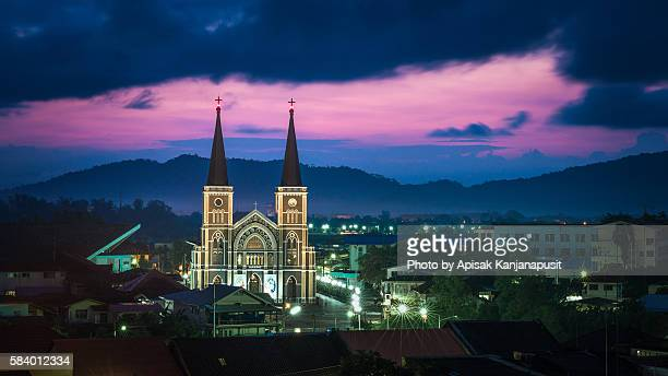 the magnificent church - chanthaburi stock pictures, royalty-free photos & images