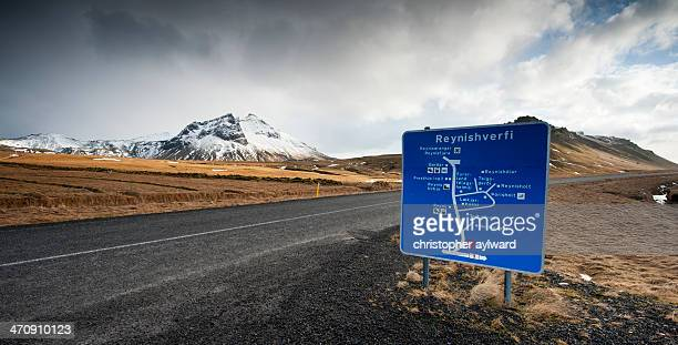 CONTENT] The magnificent Icelandic countryside Here is one of the typical Icelandic road signs on the side of the gravel road The scene shows how...