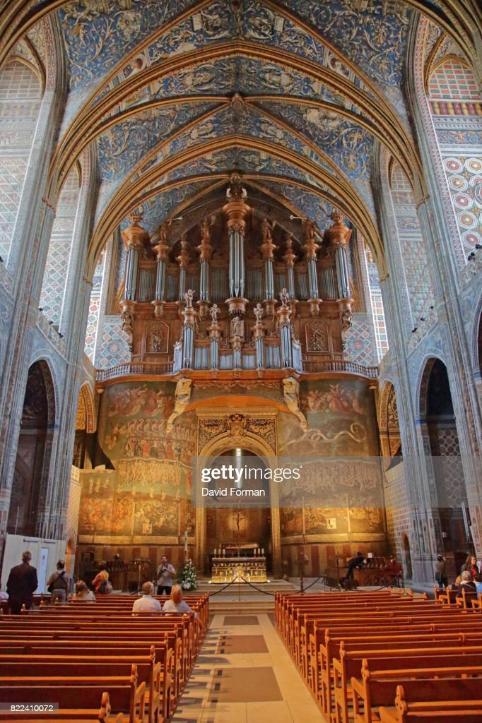 The magnificent interior of Albi Cathedral, Albi, France. : Stock Photo