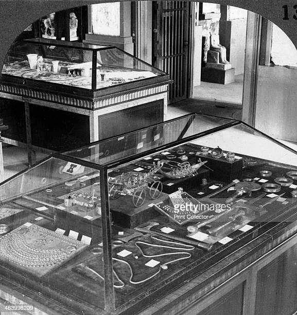 The magnificent jewellery of Queen Ahhotep Cairo Museum Egypt 1905 'These luxurious adornments were found with the body of Queen Ahhotep at Thebes in...