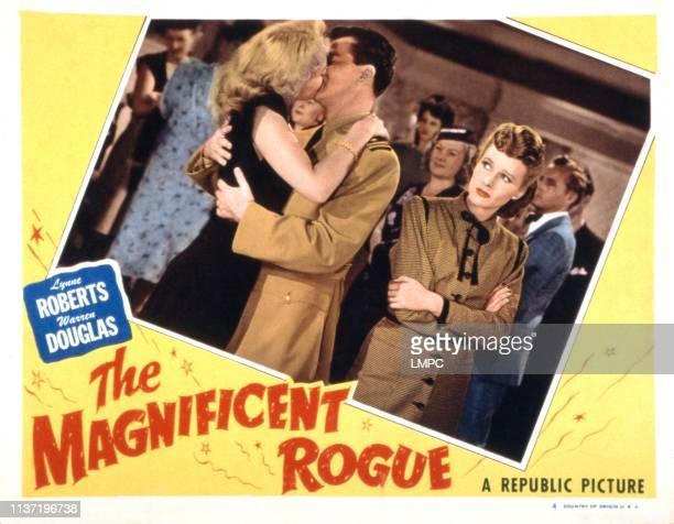 The Magnificent Rogue lobbycard Adele Mara Warren Douglas Lynne Roberts 1946