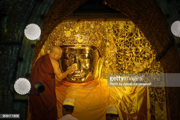 The Mahamuni Buddha, Mandalay, Myanmar