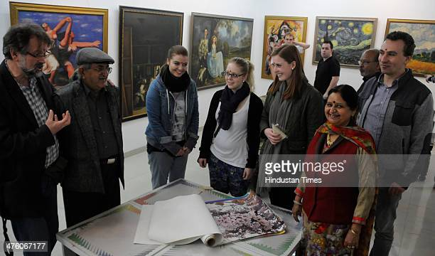 The Maharaja Academy of Fine Arts and Craft Society hosted an exhibition for 36 students from Germany and delegates from FHWS University to...