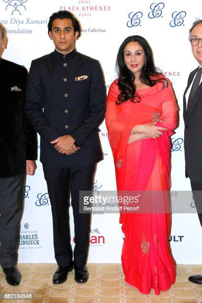 HRH the Maharaja Sawai Padmanabh Singh of Jaipur and his mother HRH Princess Diya Kumari of Jaipur attend the Charity Gala to Benefit the 'Princess...