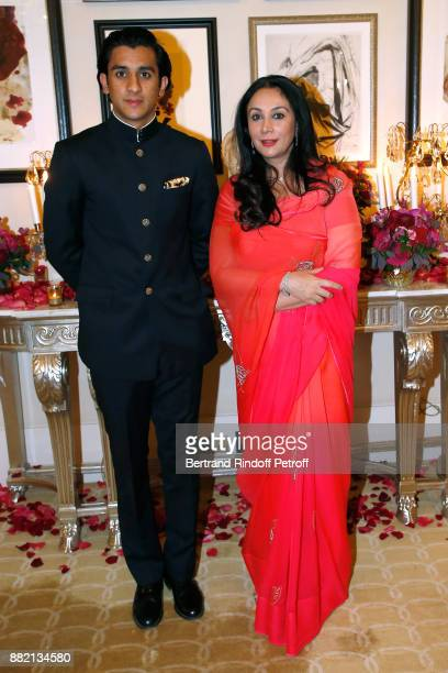 HRH the Maharaja Sawai Padmanabh Singh of Jaipur and his mother HRH Princess Diya Kumari of Jaipur attend the Charity Gala to Benefit the Princess...