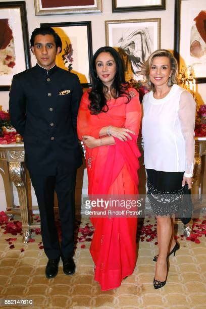 HRH the Maharaja Sawai Padmanabh Singh of Jaipur his mother HRH Princess Diya Kumari of Jaipur and Director of Communication at Plaza Athenee Hotel...