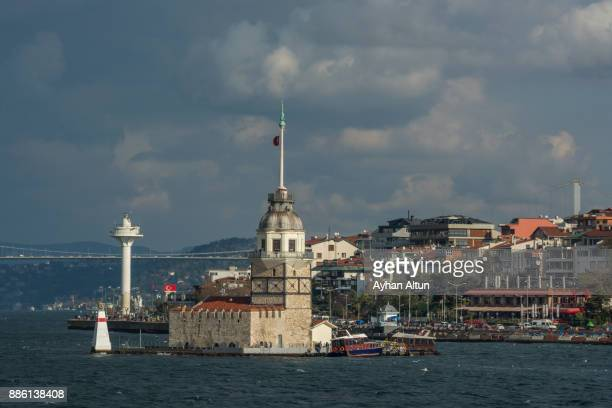 The Maiden's Tower and Uskudar waterfront,Istanbul,Turkey