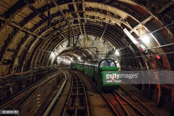The Mail Rail ride sits in a tunnel under the Mount Pleasant sorting office on July 28 2017 in London England The Postal Museum opens to the public...