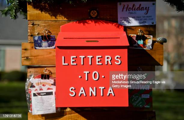 The mailbox for letters to Santa. At the home of the Parsons family in Exeter Township Thursday afternoon December 10, 2020 where they have setup a...