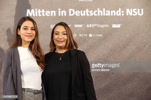 The main actor in the new ARD film trilogy 'Mitten in DeutschlandNSU' Almila Bagriacik in the roll of witness Semiya Simsek poses during a press...