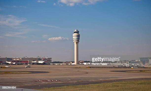 The main air traffic control tower at HartsfieldJackson Atlanta International Airport in Atlanta GA on Wednesday September 15 2010