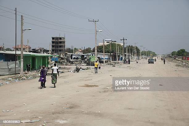 JANUARY 30 2014 The main artery of Bor empty of his inhabitants but the rare people who stayed or return there Photograph Laurent Van der Stockt/Edit...
