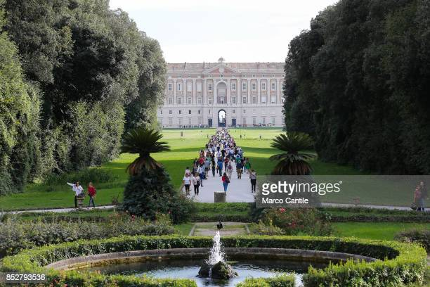 The main avenue, with the garden, of the Royal Palace of Caserta. Built by the architect Vanvitelli, the historic owners were the Bourbon of Naples.