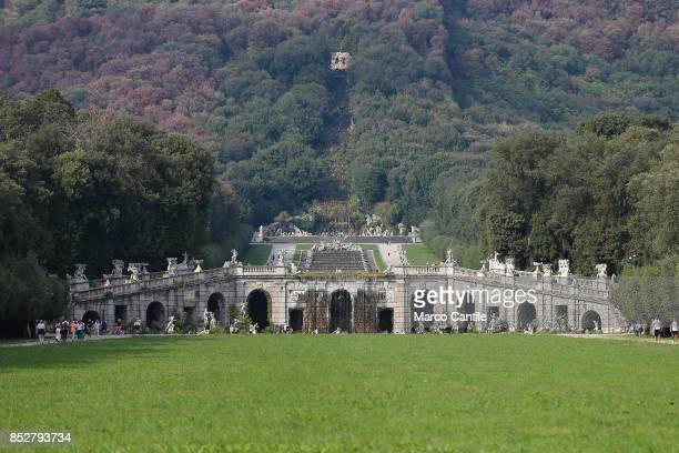 The main avenue with the garden the tanks and waterfalls of the Royal Palace of Caserta Built by the architect Vanvitelli the historic owners were...