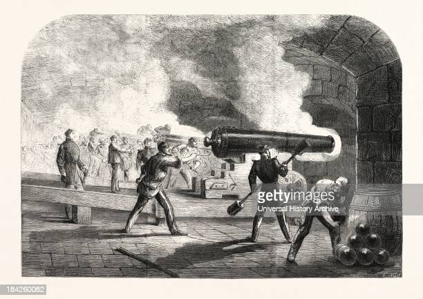 Guns Bearing On Fort Moultrie And The Channel During The Action Of Friday April 12 1861