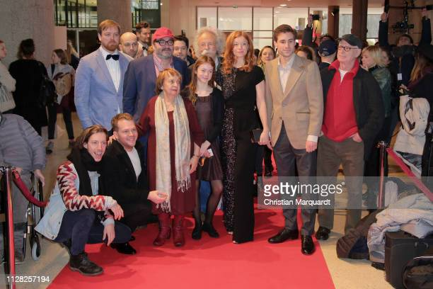 The main cast including Heiko Pinkwoski, Ben Münchow, Gwendolyn Göbel, Marleen Lohse , Jeremy Mockridge and Jean Pütz attends the premiere of the...