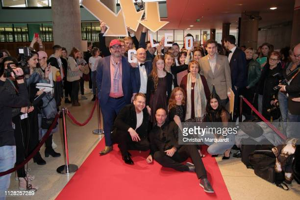 The main cast including Heiko Pinkwoski Ben Münchow Gwendolyn Göbel Marleen Lohse Jeremy Mockridge Erik Schmitt and Jean Pütz attend the premiere of...