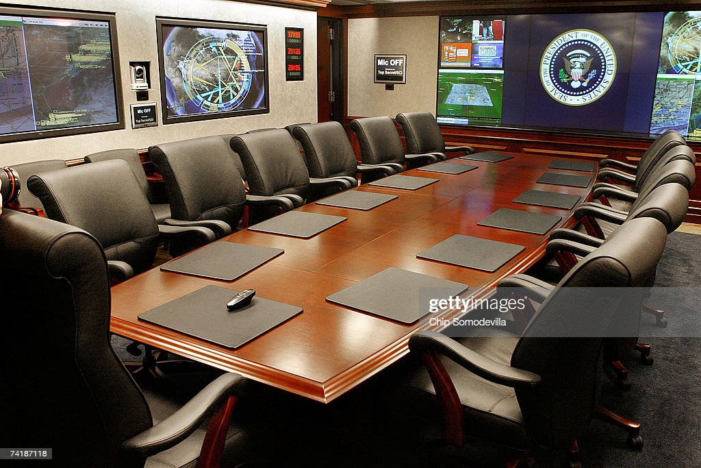 """High Tech Dominates At New West Wing """"Situation Room"""" : News Photo"""