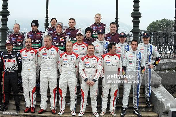 The main contenders of the World Rally Championships title holder Sebastien Loeb and his copilot Daniel Elena Finland's Mikko Hirvonen France's...