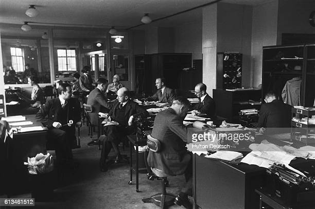 The main editorial room of the Reuters press agency in London