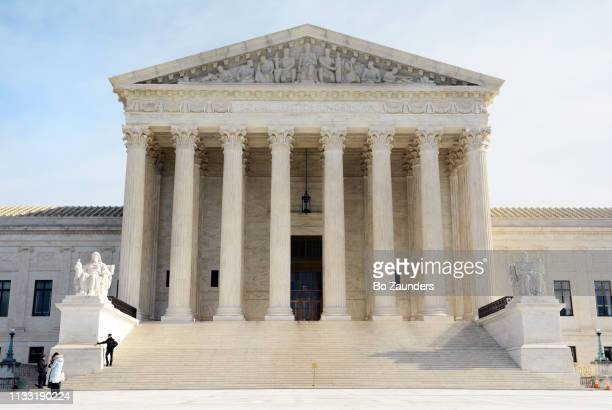 The main entrance and west facade of the Supreme Court Building of the United States, in Washington DC.