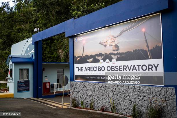 The main entrance of the Arecibo Observatory is seen in Arecibo, Puerto Rico on November 19, 2020. - The National Science Foundation announced on...