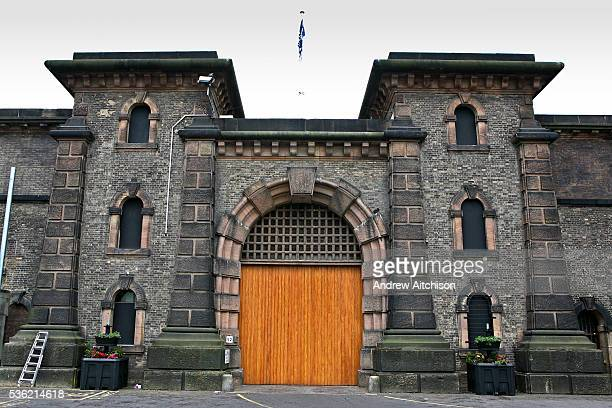 The main entrance to HMP Wandsworth London United Kingdom