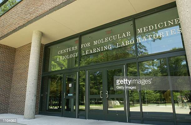 The main entrance to the Center For Molecular Medicine and Biology Learning Lab at State University of New York at Stony Brook is shown July 12 2002...