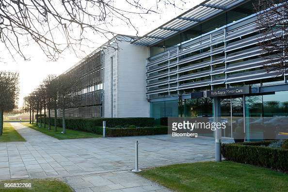 The main entrance to the Rolls-Royce Motor Cars Ltd ...