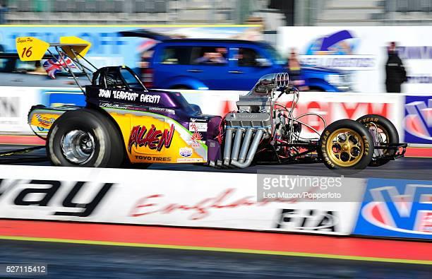 The Main Event FIA European Drag Racing Finals Santa Pod Raceway Northampton UK John Everitt UK driving a Super Pro ET Alien