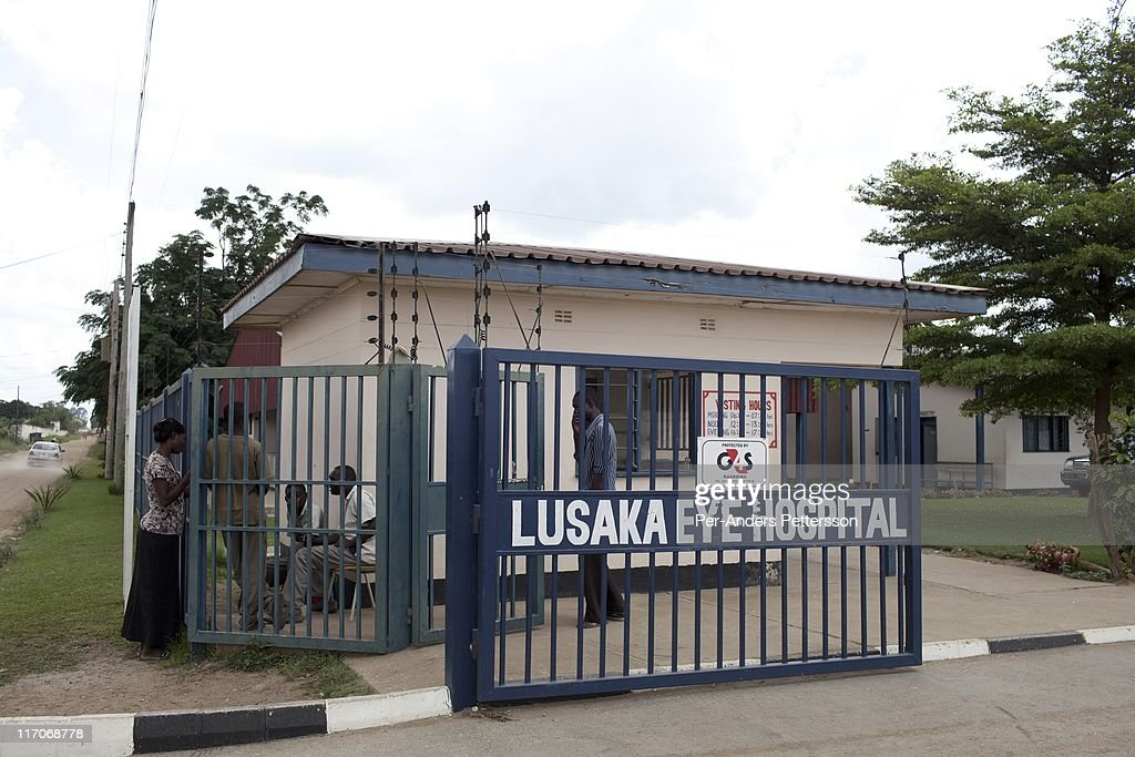 The main gate at the Lusaka Eye Hospital on January 7, 2011
