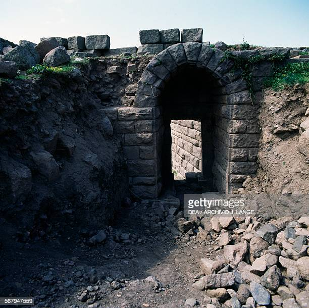 The main gate in the walls in Assos Turkey Greek civilisation 4th century BC